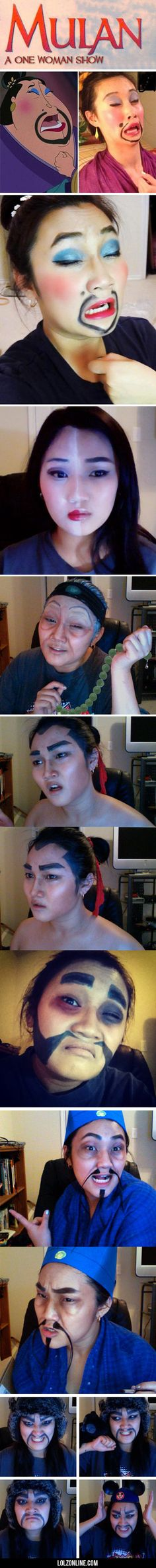Mulan One Woman Show #lol #haha #funny