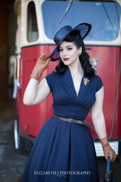 Elizabeth J Photography Miss Victory Violet in classic vintage style