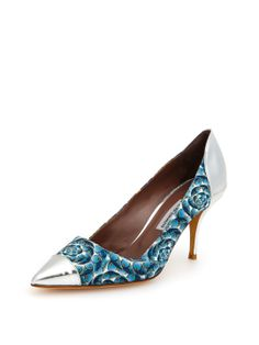 "Wink Cap-Toe Pump by Tabitha Simmons --- Fun shoe. Seriously though, is nothing 2"" anymore? This would be cute in a kitten heel"
