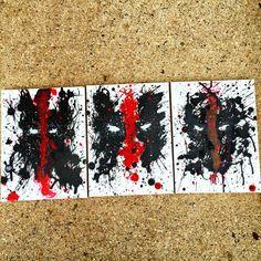Marvel Comics Deadpool Wade Wilson Merc con un Spray de acrílico del arte de lona boca salpicaduras de pintura de pintura
