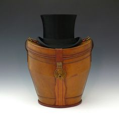 6ce5f7db09b Hat bucket (circa 1905) from Bentleys - Every Edwardian gentlemen needed a  leather travel