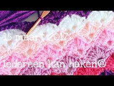 Iedereen kan haken©: Waaier in waaier steek, leren haken DIY hoe haak je Nederlands voor beginners. - YouTube