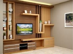 8 The Best Multifunctional Furniture Ideas for Your Small House - Home Decor Tv Unit Decor, Tv Wall Decor, Tv Wanddekor, Living Room Tv Unit Designs, Tv Unit Furniture, Furniture Ideas, Modern Tv Wall Units, Muebles Living, Tv Wall Design