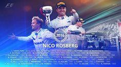 World champion Welcome to a very exclusive club, Nico Rosberg 😎⛽️ 📷 Formula 1 Nico Rosberg, F1 Season, Schumacher, Grand Prix, Twitter, Champion, Social Media, Historia