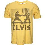 Roots of Fight Elvis Karate Photo Shirt Yellow 2X-Large   The King of Rock & Roll wasn't just any old entertainer, he was also passionate about the martial art of Karate. Featuring a classic image of Elvis in all his martial arts glory. Pay tribute to the King of Rock and fan of...