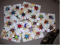 These are adorable ...  wonky scrappy stars!