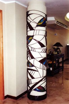 Stained Glass+Iron column by NUZ at Betsy Frank Gallery #Art