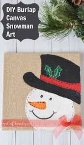 Image result for diy snowman canvas
