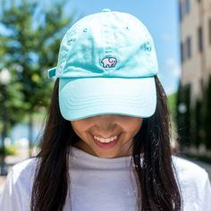 - 100% Cotton Baseball Cap Adjustable with Embroidered Elephant Custom Embossed Brass Clasp. *Portion of each sale goes directly to savetheelephants.org*