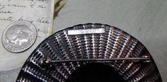 Signed ERMANI BULATTI Silver Hat Brooch w/Oak by CornermouseHouse