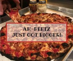 Whether you want to share your pizza or you are simply super hungry, GET EXCITED!!!! AH-BEETZ is now offering 16 inch pies to satisfy those who just can't get enough apizza! #newhaven #mootz #pizza