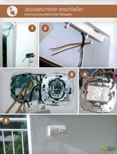 Bei der Montage werden elektrische Rollläden zumeist nicht angeschlossen. Wie Sie diesen selbst an den Jalousieschalter anschließen zeigt unsere Anleitung.