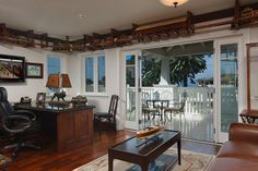 Hill Construction Company, Sea Cliff Cottage, San Diego, La Jolla, Beach Cottage, Beach house, Guest House, Study Room, View, Cliff, Study room