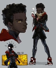 Marvel Images, Marvel Art, Marvel Heroes, Spider Verse, Zuko, Black Cartoon Characters, Miles Morales Spiderman, Black Comics, Black Love Art