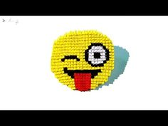 How to make 3d origami emoji - face - YouTube
