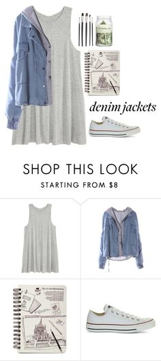 """""""dayneem (contest)"""" by farisahkhan ❤ liked on Polyvore featuring H&M and Converse"""