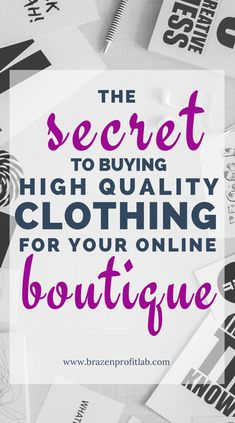 The fact of the matter is, finding a source of high quality clothing for your online boutique can be in a real challenge. That's why in this post I share 6 of my top tips and tricks for finding the best vendors in the least amount of time. Boheme Boutique, Boutique Names, Boutique Ideas, Kids Boutique, Boutique Stores, Starting An Online Boutique, Wholesale Boutique Clothing, Baby Boutique Clothing, Naming Your Business