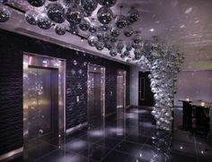 Another view of W Hotel in London disco ball shine-fest! W Hotel, Hotel Lobby, Soho, Decor Inspiration, Decor Ideas, London Property, Mirror Ball, Leicester Square, London Hotels
