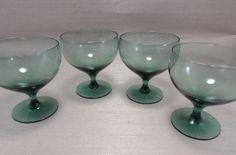 Vintage Morgantown Crystal AMERICAN MODERN Water Goblets - 4 - Russel Wright #Morgantown