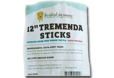 ** ALERT - DOG TREAT RECALL ** - July 22, 2015 - Natural Dog Company Tremenda Sticks Recall due to Salmonella | petMD