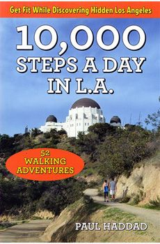 10,000 Steps a Day in L.A. is for urban adventurers with a passion for healthy living who are also eager to explore Los Angeles, from its exoctic and lengendary locations to the unsung, and quirky sites hidden in plain view all, over the city. In Los Angeles, before you go, you must figure out transport mode and if driving, the parking situation, before you go., so 10,000 steps a Day in Los Angeles will help you with that. Readers only need to be willing to walk and have fun