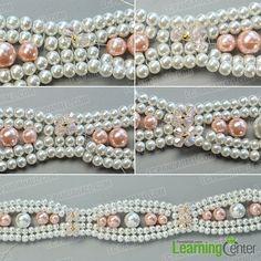 make the fifth part of the elegant pearl bracelet