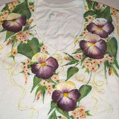Pansies and Butterfly Painting Patterns On Fabric, Shirts, Clothes, Sheets and More! Painting Patterns and Instructions