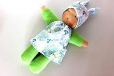 Little cosy waldorf inspired doll cuddle doll Babies by JuniKate, $34.00