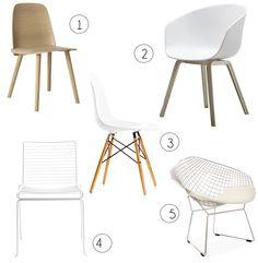Via Nionio | Eames Dsw | Bertoia Diamond Chair | Hay About a Chair | Muuto Nerd Chair