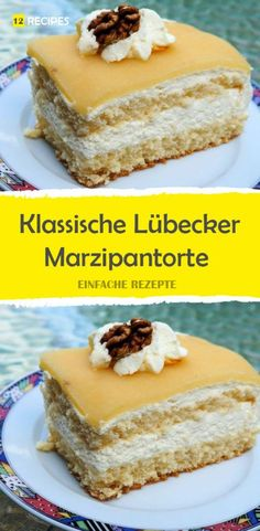 Klassische Lübecker Marzipantorte Classic Lübeck marzipan cake Related posts: Simple cherry cake with marzipan and sprinkles Marzipan chocolate cake ring Classic Chocolate Birthday Cake The Most Amazing Classic Chocolate Cake Ingredients 2 … Pudding Desserts, Cookie Desserts, No Bake Desserts, Cookie Recipes, Dessert Recipes, Drink Recipes, Delicious Cake Recipes, Tart Recipes, Yummy Cakes