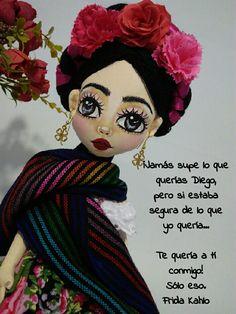 Frida Quotes, Soft Dolls, Soft Sculpture, Doll Face, Paper Dolls, Decoupage, Plush, Textiles, Handmade Dolls