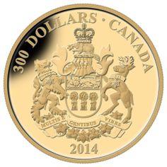 $300 2014 14kt Gold Coin Provincial Coat of Arms Saskatchewan