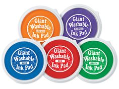Bright Giant Washable Color Ink Pads - 5-Color Set at Lakeshore Learning