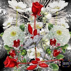 Wallpapers Rosa, Cute Wallpapers, Beautiful Gif, Beautiful Roses, Coeur Gif, Valentines Gif, All Flowers, Flower Wallpaper, Bloom