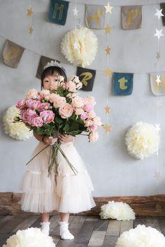 お誕生日記念 Girls Dresses, Flower Girl Dresses, Wedding Dresses, Flowers, Fashion, Dresses Of Girls, Bride Dresses, Moda, Bridal Gowns