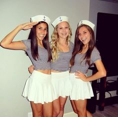 Halloween is a time to pull out some unique Halloween costumes for best friends! So we found some great Group Halloween Costumes for you and your best friends. Look at a list of these super cool Girlfriend Group Halloween Costumes, and you can find s Halloween Costumes For Teens Girls, Cute Group Halloween Costumes, Couples Halloween, Halloween Outfits, Cute Costumes, Costume Ideas, Sailor Costumes, Halloween Halloween, Teen Costumes