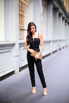 Lace Jumpsuit - Alice + Olivia jumpsuit c/o Stuart Weitzman heels // Gold cuff Svelte Metals ring // Saint Laurent clutch Wednesday, October 29, 2014