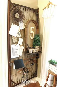 14-organization-stations - I could use the old crib springs for something like this....