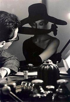 "Can this be my poker face? ""by Frank Horvat, Harper's Bazaar 1962"""