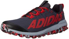 new style f0a24 4b247 adidas Performance Men s Vigor 6 TR M Running Shoe,Black Red Light M US.  Eye-catching trainer featuring wide ghille lacing with center tongue loops  and ...