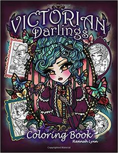 Amazon Victorian Darlings Coloring Book 9781725547254 Hannah Lynn Books