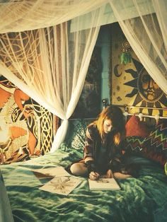 Stoner Bedroom, Grunge Bedroom, Indie Room, Bohemian Room, Bohemian Bedroom  Decor, Grunge Girl, Stoner Girl, Dorm Rooms, Room Goals