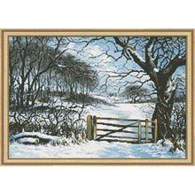 """Winter's Gate"" counted cross stitch kit"