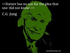 C.G. Jung - quote-Nature has no use for the plea that one 'did not know'. #CGJung #quote #quotation #aphorism #quoteallthethings