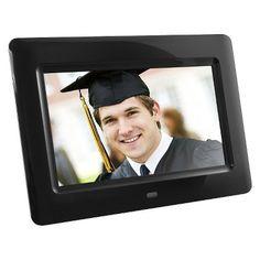 "Aluratek 7"" LCD Digital Photo Frame - Black (ADPF07SF)"