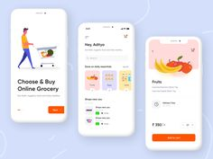 Online Grocery Shopping by live_2_dsign Grocery Shopping App, Time Shop, Ui Ux Design, How To Stay Healthy, Design Inspiration, Zero Waste, Amazing, Milk, Top