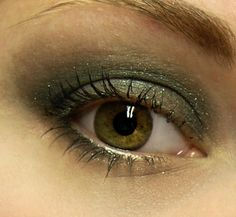 Dark Green Super Shimmery Eyeshadow  NEBULA Mineral Eye by BLSoaps, $7.95