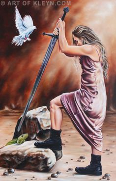 Warrior by Ilse Kleyn Luk 10:19, Mar 16:17, Psalm 18:34-40 www.artofkleyn.com…