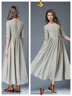 <br> Linen Dresses, Casual Dresses, Fashion Dresses, Pakistani Fashion Casual, Muslim Fashion, Stylish Summer Outfits, Kurta Designs Women, Jumpsuit Dress, Ukraine