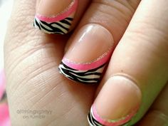 Zebra, pink, & sparkley